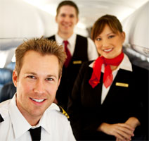 airline jobs - pilots, stewardess, flight attendant